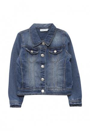 Куртка джинсовая Name It. Цвет: синий