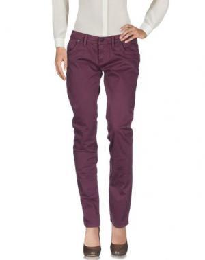 Повседневные брюки TAKE-TWO. Цвет: баклажанный