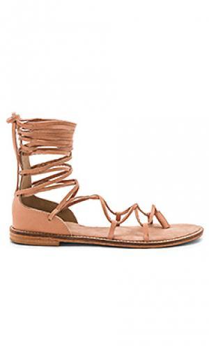 Сандалии со шнуровкой JAGGAR. Цвет: цвет загара