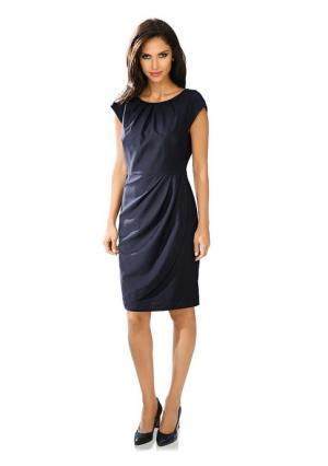 Платье футляр ASHLEY BROOKE by Heine. Цвет: голубой, коралловый, серо-коричневый, темно-синий