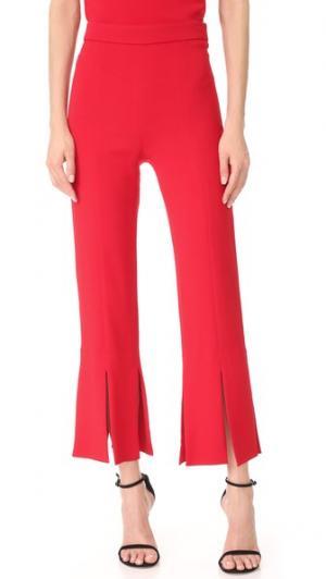 Укороченные брюки с разрезами внизу Cushnie Et Ochs. Цвет: оранжево-красный