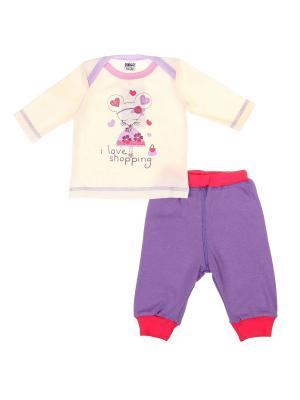 Комплект одежды Yallo Kids. Цвет: сиреневый