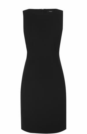 Приталенное платье-миди без рукавов Theory. Цвет: черный