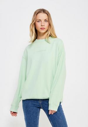 Свитшот Calvin Klein Jeans. Цвет: зеленый