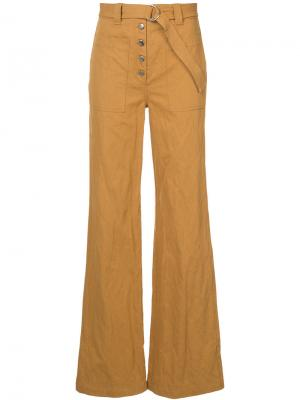 Свободные брюки A.L.C.. Цвет: жёлтый и оранжевый