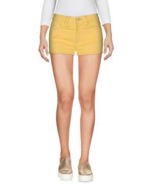 Джинсовые шорты CYCLE. Цвет: желтый