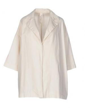 Легкое пальто DANIELA PANCHERI. Цвет: слоновая кость