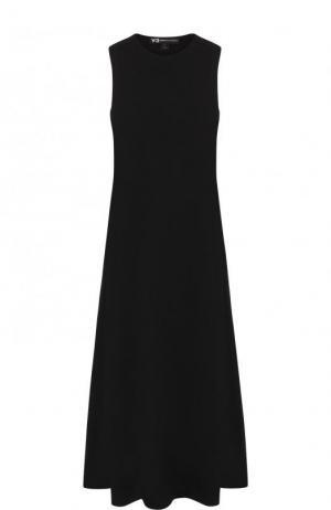 Однотонное платье-миди свободного кроя без рукавов Y-3. Цвет: черный