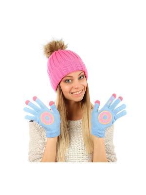 Перчатки GREZZO. Цвет: голубой