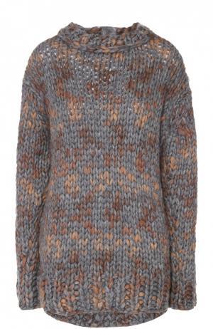 Пуловер крупной вязки с декоративной отделкой No. 21. Цвет: разноцветный