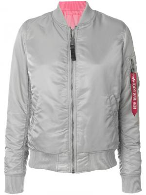 Куртка-бомбер MA-! Alpha Industries. Цвет: серый