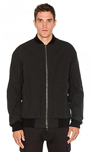 Свободная куртка-бомбер Helmut Lang. Цвет: черный