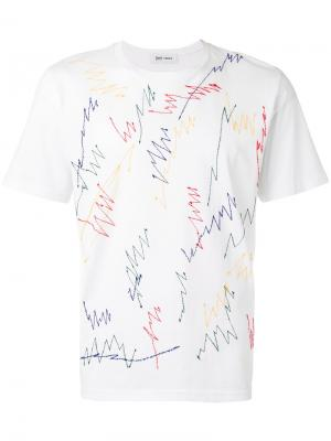 Embroidered scribble T-shirt Jimi Roos. Цвет: белый