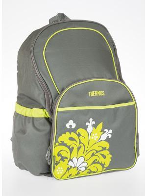 Сумка-термос  рюкзак DIAPER BACKPACK - VELENCA Thermos. Цвет: серый, салатовый