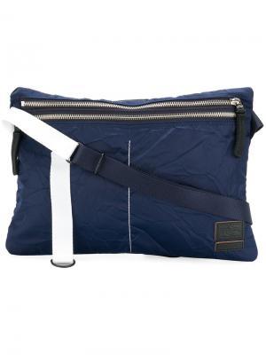 Джинсовая сумка на плечо Porter. Цвет: синий