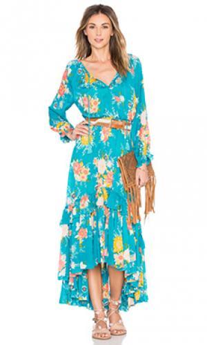 Платье jagger Spell & The Gypsy Collective. Цвет: сине-зеленый