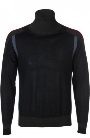 Водолазка из смеси кашемира с шелком и шерстью Brioni. Цвет: темно-синий