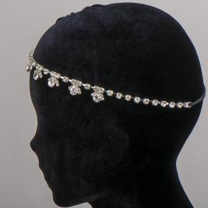 Ободок-резинка для волос, арт. 08 700 Бусики-Колечки. Цвет: серый
