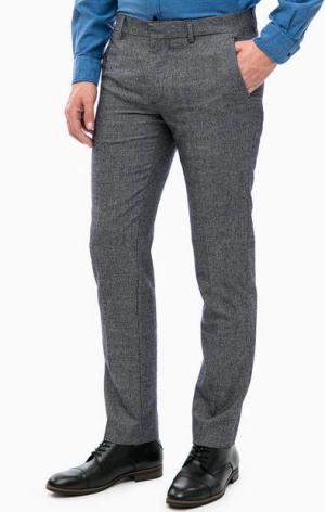 Синие брюки с высоким содержанием шерсти Lacoste. Цвет: синий