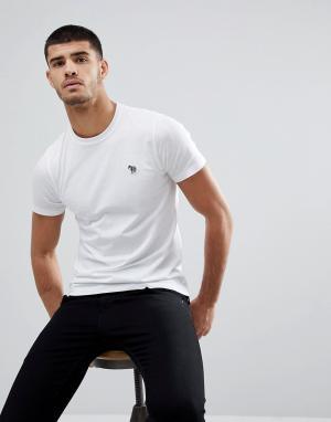 PS Paul Smith Белая футболка узкого кроя с логотипом-зеброй. Цвет: белый