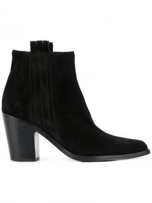 Сапоги по щиколотку на невысоких каблуках Sartore. Цвет: чёрный