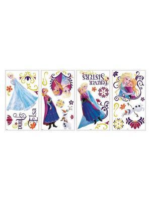 Наклеки для декора Холодное сердце, персонажи ROOMMATES. Цвет: белый, черный, синий, зеленый, серый, голубой, красный, оранжевый, желтый