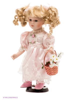 Кукла фарфоровая Алла, 12 Lisa Jane. Цвет: бледно-розовый, розовый