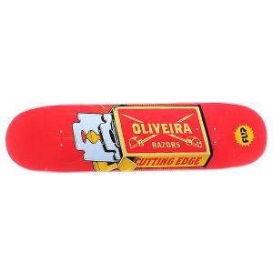Дека для скейтборда  S5 Oliveira Razor 32 x 8.13 (20.7 см) Flip. Цвет: красный,желтый,голубой