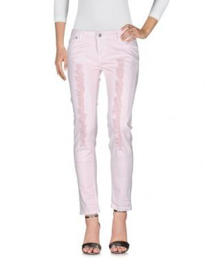 Джинсовые брюки SUERTE. Цвет: розовый
