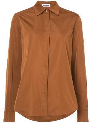 Рубашка с длинными рукавами Jil Sander. Цвет: коричневый