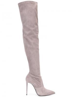 Ботфорты на шпильке Le Silla. Цвет: серый