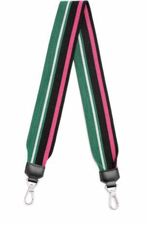 Текстильный ремень для сумки Proenza Schouler. Цвет: зеленый