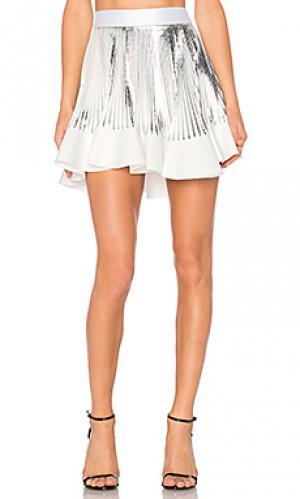 Плиссированная мини юбка By Johnny. Цвет: белый