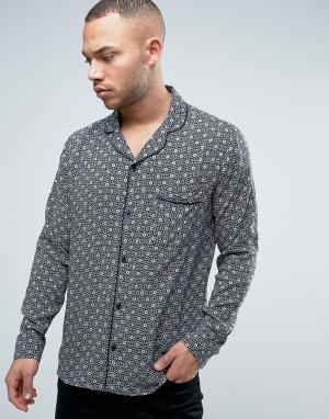 Brooklyn Supply Co. Рубашка с принтом и отложным воротником Co. Цвет: коричневый