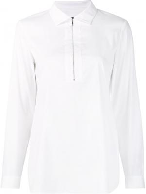Блузка на молнии Lafayette 148. Цвет: белый