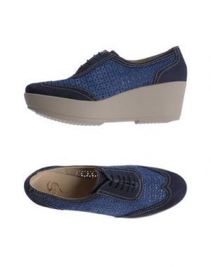 Обувь на шнурках HÉCOS. Цвет: грифельно-синий
