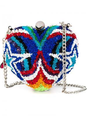 Декорированная сумка через плечо в форме сердца Manish Arora. Цвет: многоцветный