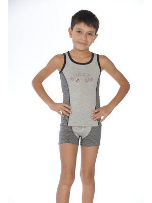 Комплект для мальчика SEVIM. Цвет: серый, черный