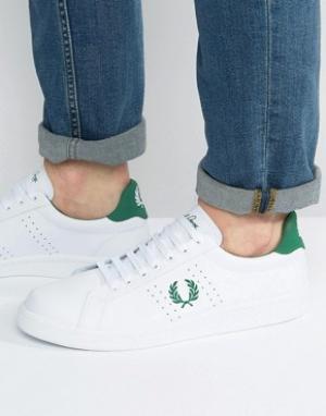 Fred Perry Кожаные кроссовки B721. Цвет: белый