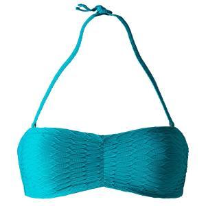 Верх от купальника, форма бандо La Redoute Collections. Цвет: голубой бирюзовый,розовый,черный