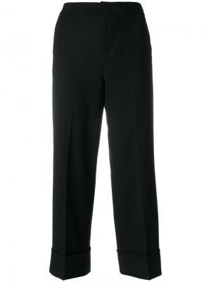 Строгие укороченные брюки Pt01. Цвет: чёрный