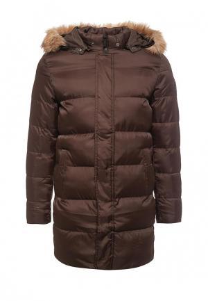 Куртка утепленная PaperMint. Цвет: коричневый