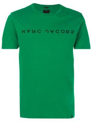 Футболка с принтом-логотипом Marc Jacobs. Цвет: зелёный
