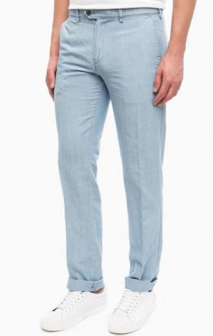 Зауженные брюки из денима Lion of Porches. Цвет: синий