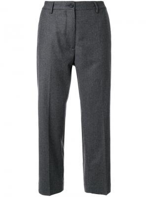 Классические укороченные брюки Pence. Цвет: серый