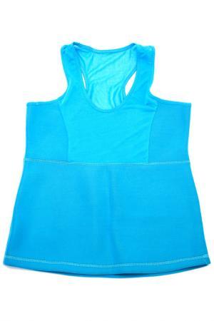 Майка для похудения BRADEX. Цвет: голубой