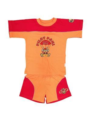 Шорты и футболка МИКИТА. Цвет: красный, оранжевый
