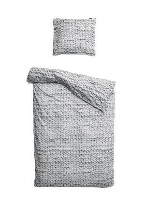 Комплект постельного белья 1,5-спальный Snurk. Цвет: серый