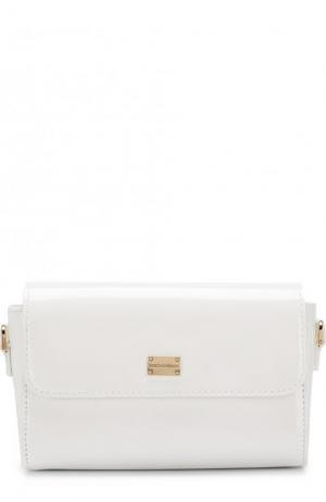 Лаковая сумка Dolce & Gabbana. Цвет: белый