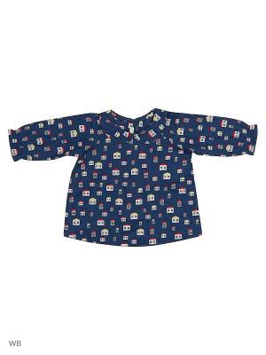 Рубашка United Colors of Benetton. Цвет: синий, белый, бледно-розовый, терракотовый
